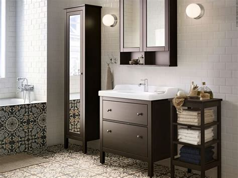 hemnes bathroom hemnes badrumsserie i svartbrun bets ikea pinterest