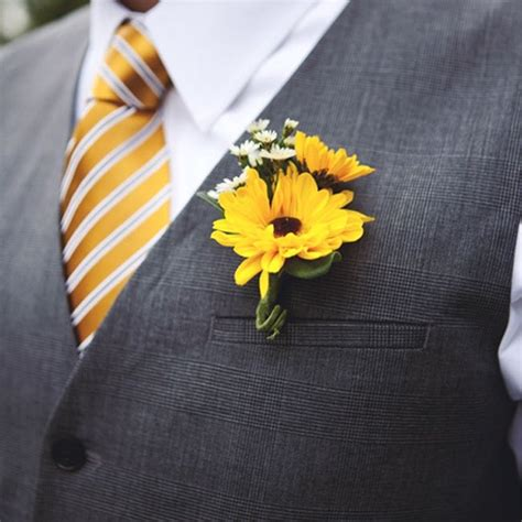 Corsage Black Grey sunflower boutonniere on discover the best trending sunflower corsage ideas and more