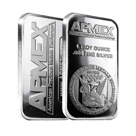 1 oz apmex silver bar 999 1 oz apmex silver bar 999 bullion exchanges