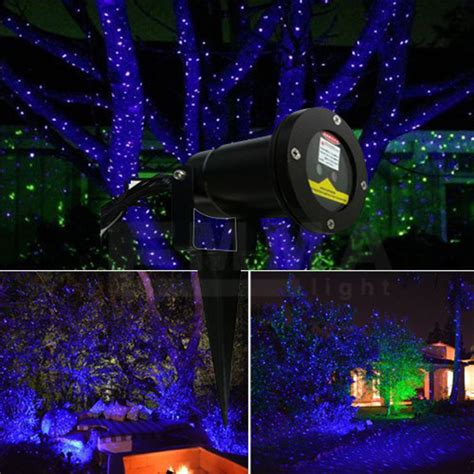 outdoor elf laser lights for trees blue garden laser light