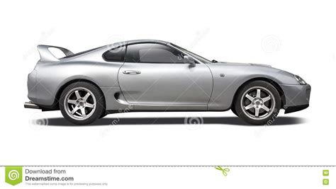 toyota supra side view toyota supra on white stock photo image of transport
