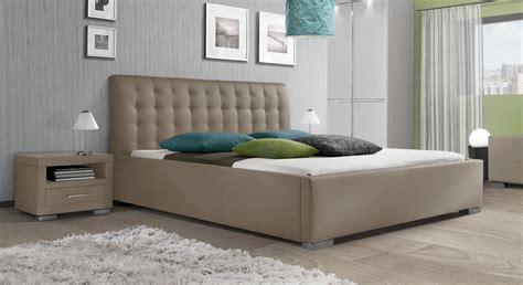 kunstlederbett mit hohem kopfteil baskerville comfort - Le Bett