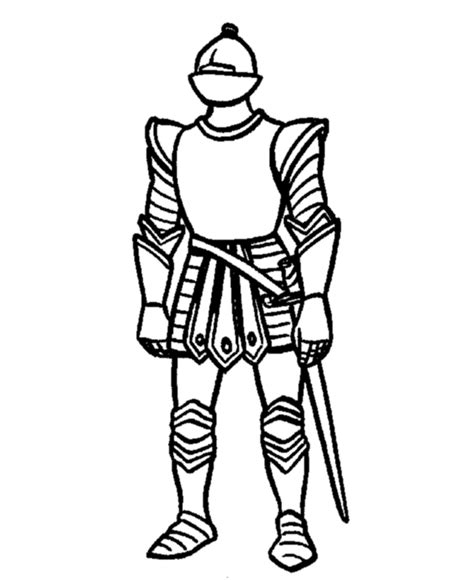 coloring page of knight in armor medieval coloring page coloring home
