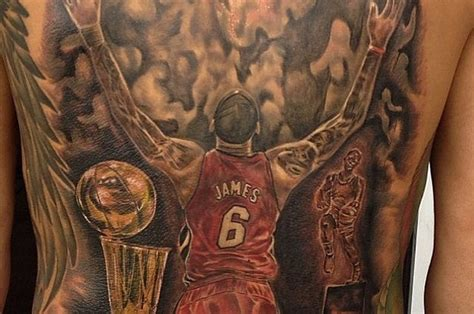 lebron james tattoos removed these might want to get their lebron heat