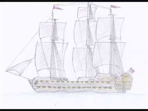 how to draw a boat from the first fleet how to draw a ship youtube