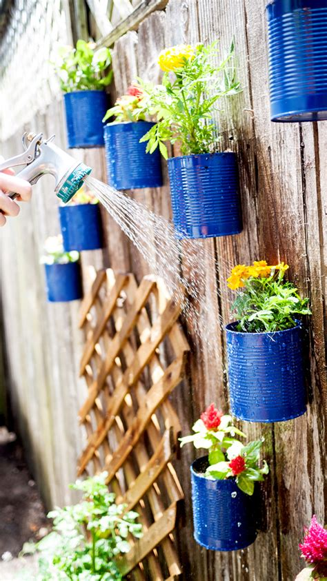 Can Decoration Ideas by Diy Hanging Fence Garden In Backyard House Design And Decor