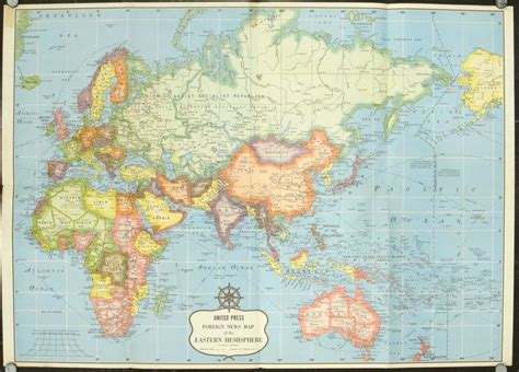eastern hemisphere map united press foreign news maps korea asia europe near east far east the balkans the world