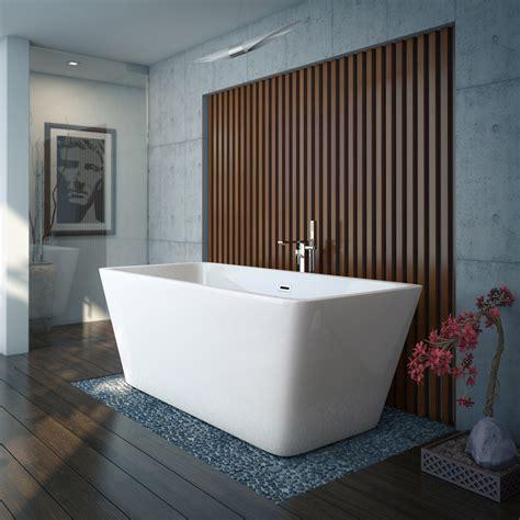 modern baths valencia 1615 square modern freestanding bath