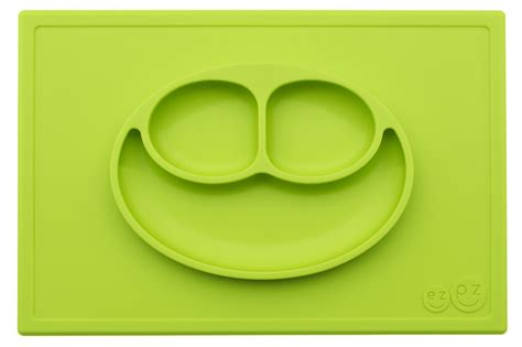 Ezpz Mini Mat In Lime happy mat in lime all in one plate placemat that suctions