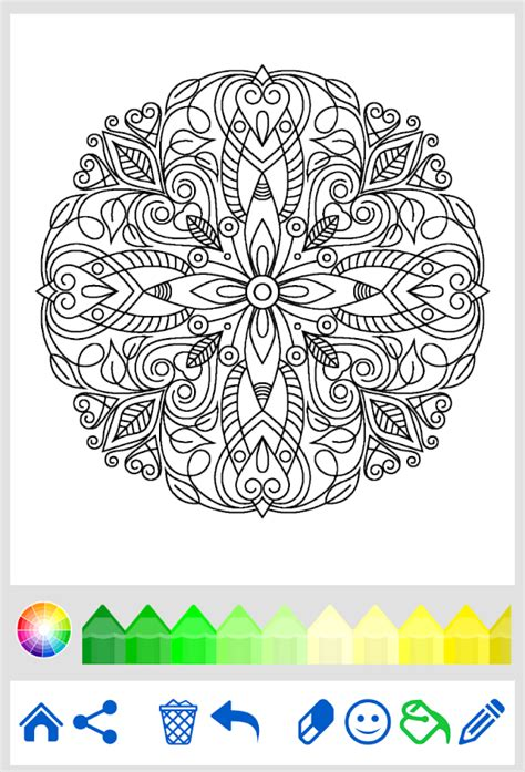 mandalas coloring book app mandala coloring for adults android apps on play