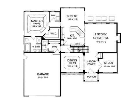 eplans colonial house plan two story great room 2256 eplans colonial house plan two story great room 2256