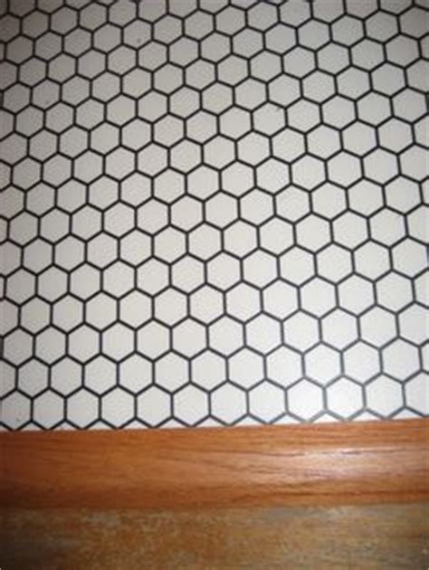 hexagon pattern vinyl red rubber flooring from polyflor in bathroom bathroom