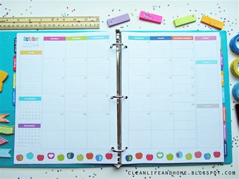 Calendar Spreads Clean And Home The Planner
