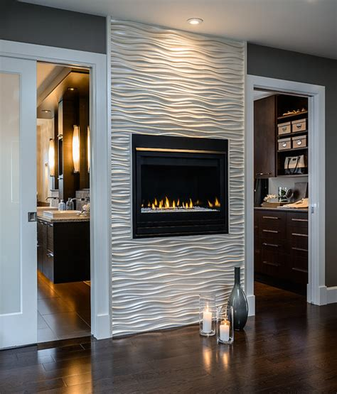 the wavy tile around the fireplace where did you get it