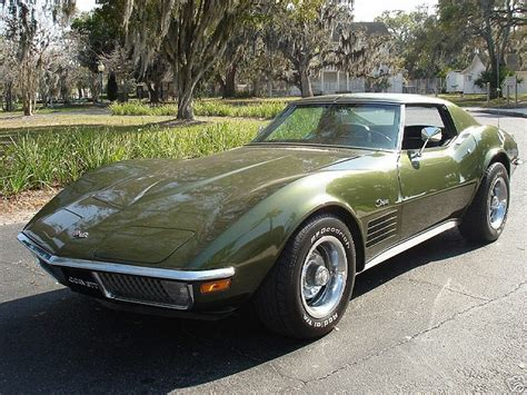 corvette stingray green 1970 dark green chevy coevette 68 72 corvettes c3