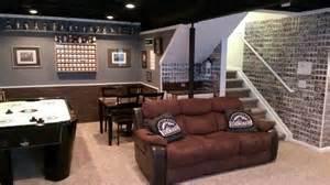 Denver Basements - basement baseball and football man cave basement colorado rockies