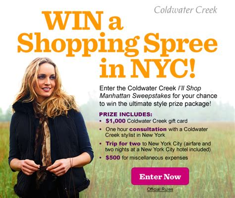 Coldwater Creek Gift Cards - coldwater creek win a shopping spree in nyc how to have it all