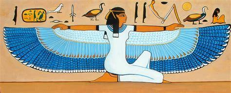 imagenes arte egipcio arte egipcio mujer con alas pintura y artistas