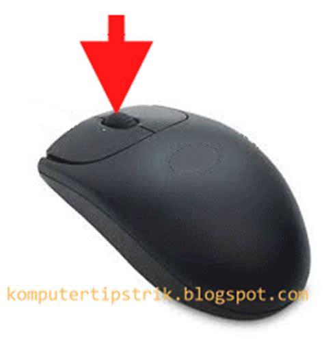 Mouse Otomatis fungsi tombol scroll wheel pada mouse tips trik komputer