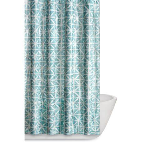 teal and grey shower curtain truly soft celine 72 in teal grey shower curtain sc2217tg