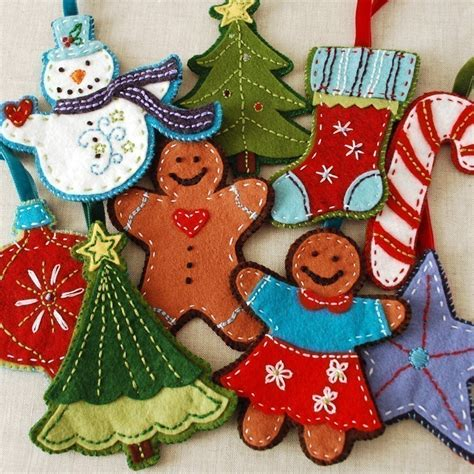 pattern felt christmas ornaments pdf pattern felt embroidered christmas ornaments ebook instant