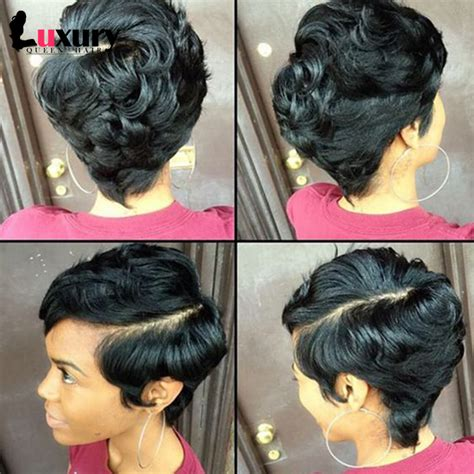 short stleys of bump weave 27 pieces short human hair weave with free closure