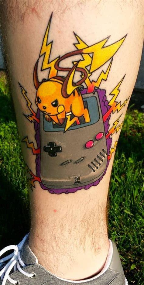 raichu tattoo my gameboy raichu is now fully healed and it looks