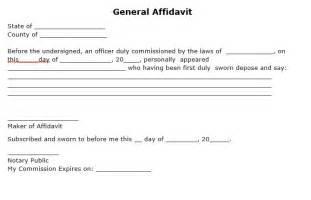 General Affidavit Template by General Affidavit Form Car Interior Design