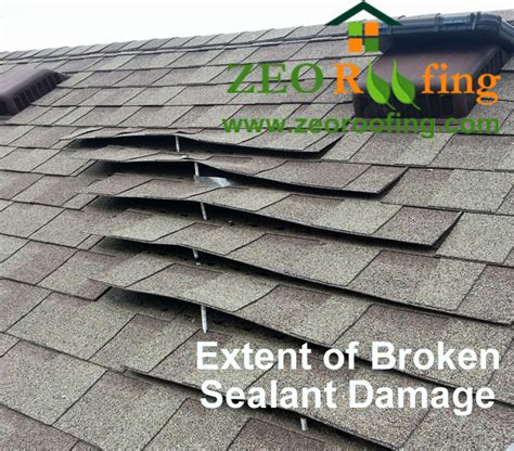 tile roof sealant for high wind zones roof damage due to broken shingle sealant and high winds