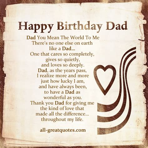Dads Birthday Quotes The Gallery For Gt Happy Birthday Dad Quotes From