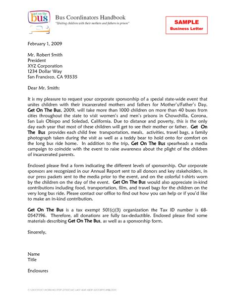 Business Letter Doc Templates Business Letter Exle Business