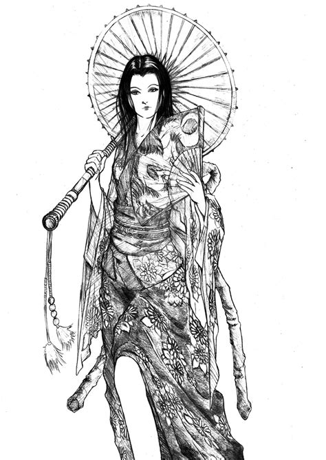 geisha warrior tattoo drawings geisha by semrosto on deviantart