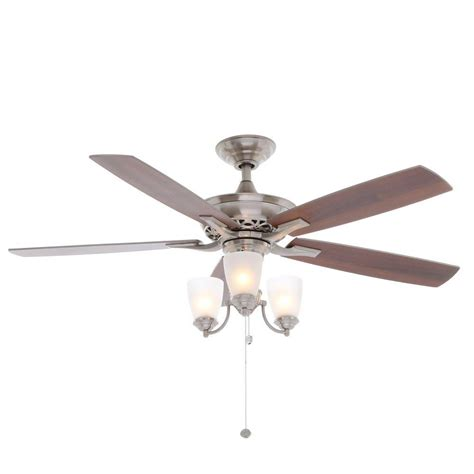hton bay ceiling fan customer service hton bay havenville 52 in indoor brushed nickel