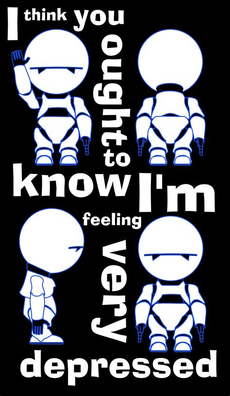 marvin the paranoid android quotes marvin is depressed by tdn169 on deviantart