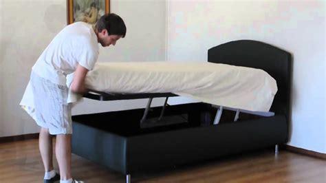 letto contenitore con doppio meccanismo