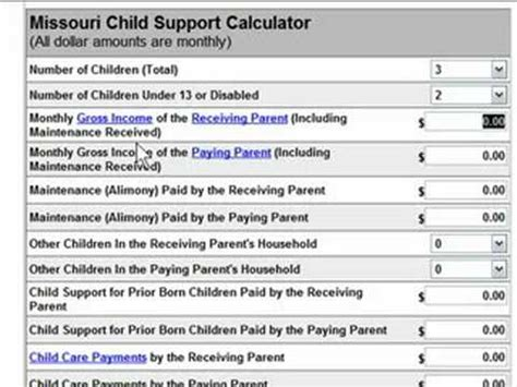Child Support Worksheet by Missouri Child Support Worksheet Wiildcreative