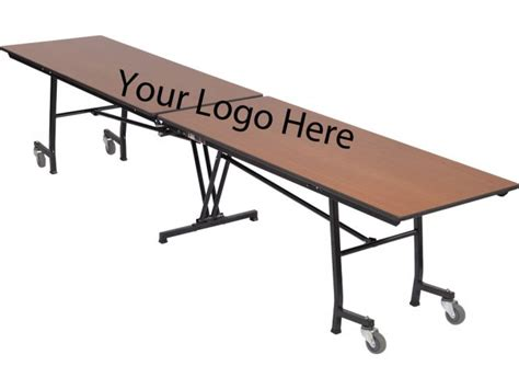 stow away folding rectangular cafeteria table 8 folding