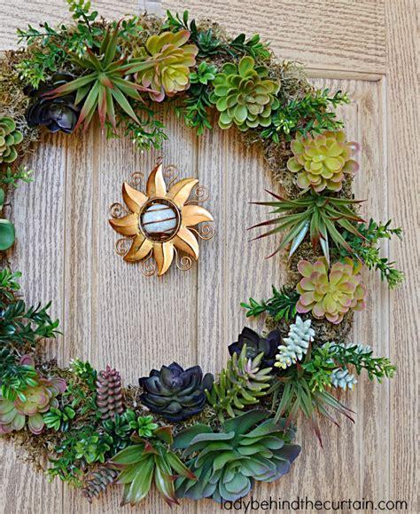 Diy Wreaths Front Door Diy Artificial Succulent Front Door Wreath