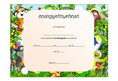 pre k award certificate templates pre kindergarten certificate template the best template