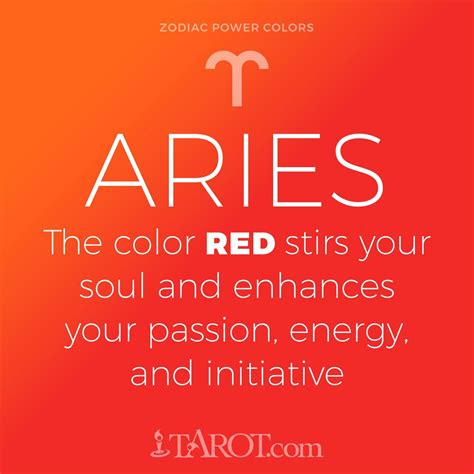 aries color aries power color aries aries zodiac