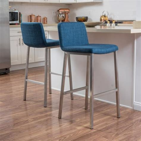 denise austin home october bonded leather barstool set of modern gdf studio