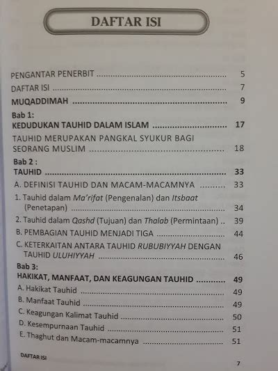 Buku Islam Pelajaran Tauhid Untuk Tingkat Lanjutan buku tauhid jalan kebahagiaan keselamatan keberkahan toko muslim title