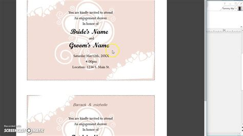 Wedding Invitation Using Mail Merge by Invitation Card Using Mail Merge Choice Image Invitation