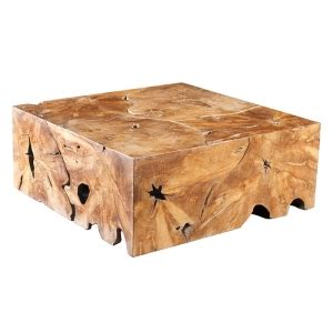 tree trunk sections for sale teak block coffee table square