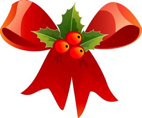 natale clipart bow with clip at clker vector