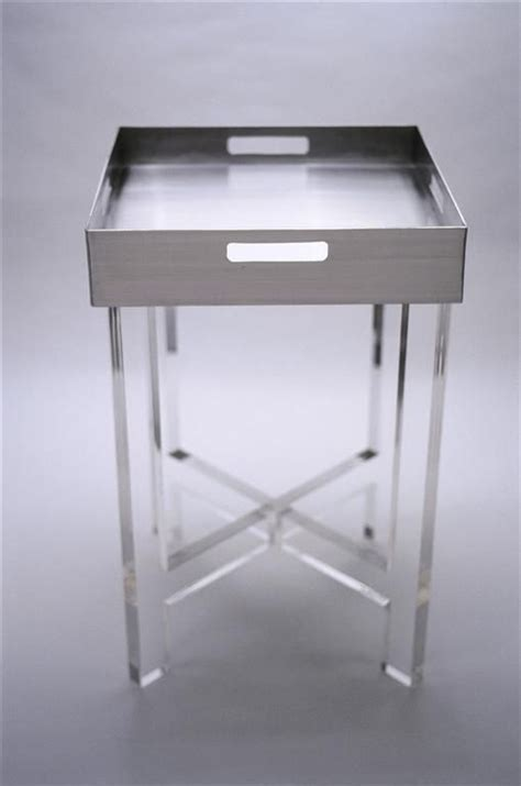acrylic accent table lucite accent table www peregrineplastics com 几