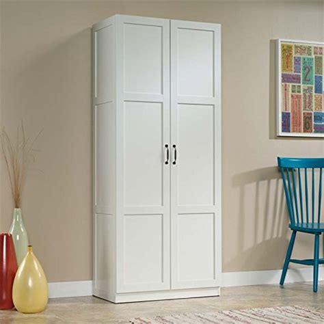 sauder storage cabinet white storage cabinets with doors and shelves home furniture