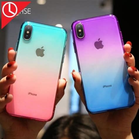 kisscase gradient color silicone for iphone x xs max xr soft for iphon ebay