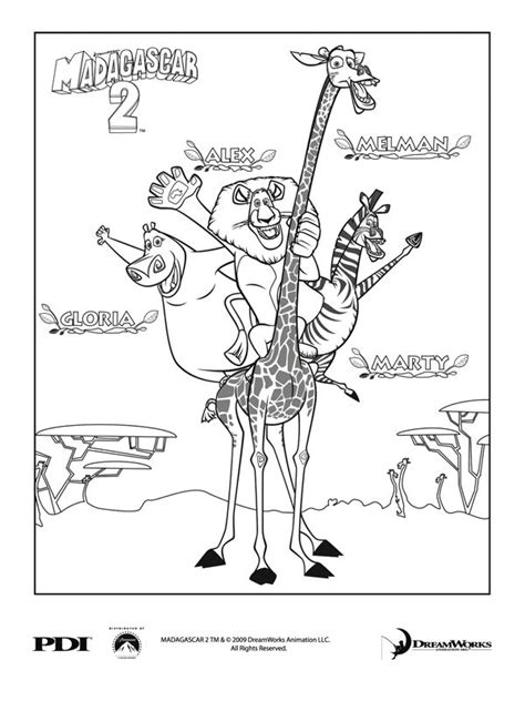 madagascar island coloring page 10 images about film madagascar on pinterest madagascar