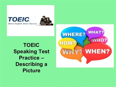 Top One Toeic Preparation toeic speaking practice basic picture description